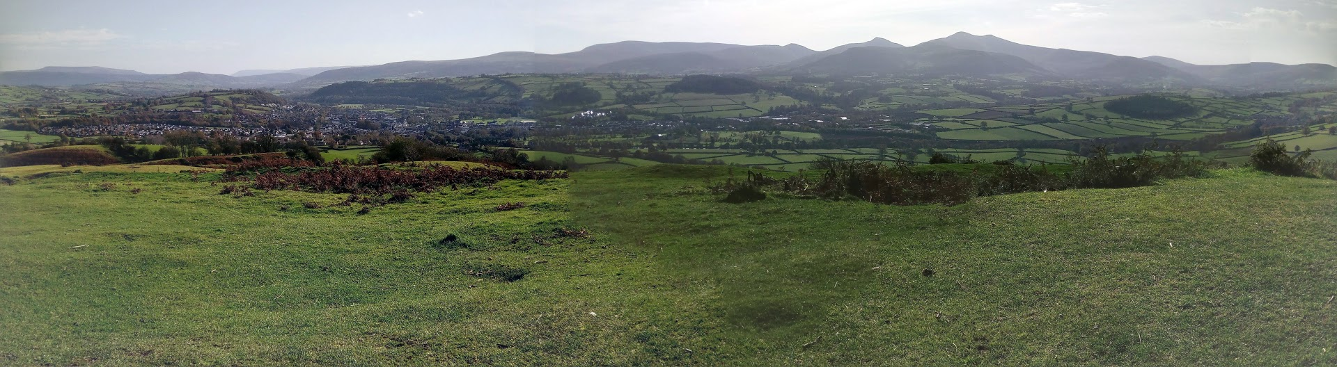 View of the Brecon Beacons from Pen y Crug
